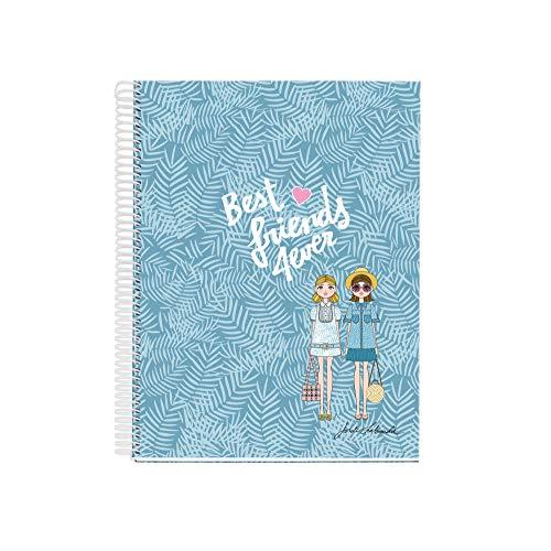 Jordi Labanda cuaderno A4 120 hojas Rayado Horizontal Best Friends