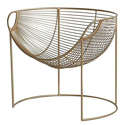 Lwieui Silla de sofá Silla de sofá Creativo Golden Simple Cafetería Lazy Sofa Silla Hierro Silla de Ocio Sillones y chaises Longues (Color : Gold, Size : 73x62.5x67cm)