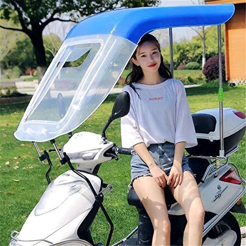 Funda para Lluvia para Motocicleta, Motor Universal, Scooter, Funda para Lluvia para Bicicleta, Visera Solar, Paraguas Impermeable (Color : Blue)