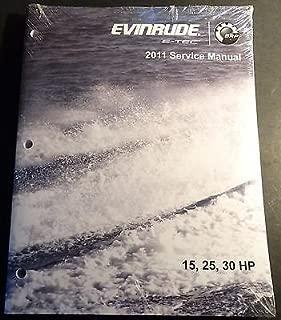 2011 EVINRUDE E-TEC 15, 25, & 30 HP SERVICE MANUAL NEW P/N 5008326 (343)