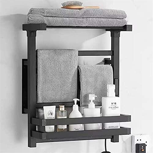 Calentador de toallas 6 barras Toallero eléctrico con calefacción Montaje en pared...