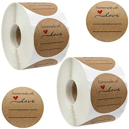 Etiquetas Adhesivas Redondas Kraft Marca N\A