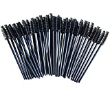 Camkey 100pcs Disposable Mascara Wands Makeup Brushes Eyelash Eye Lash Brush Make Up Applicators Kit (Black)