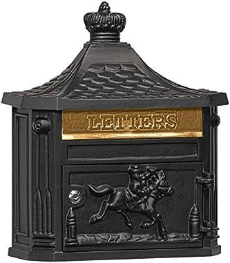Salsbury Industries 4460BLK, Black Victorian Surface Mounted Mailbox