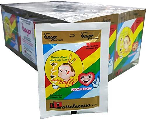 CAFFÈ PASSALACQUA DEUP - DECAFFEINATO - Box 80 BUSTINE MONODOSE 6.25g MACINATO PER MACCHINE ESPRESSO BAR