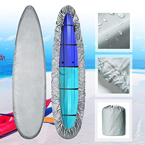100% Waterproof Kayak Cover, 420D Kayak Storage Cover Dust Sunblock & UV Wind...