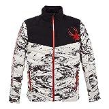 Spyder Men's Timeless LE Down Jacket – Paneled Puffy Lightweight Full Zip, Granite White, X-Large