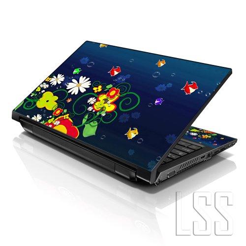 LSS 15 39,62 cm Art Sticker Skin Notebook 33,78 cm 35,56 cm 39,62 cm 40,64 cm HP Dell für Vinyl Lenovo Apple Asus Acer (inklusive 2 Wrist Pad) Compaq Fischpfanne Ocean