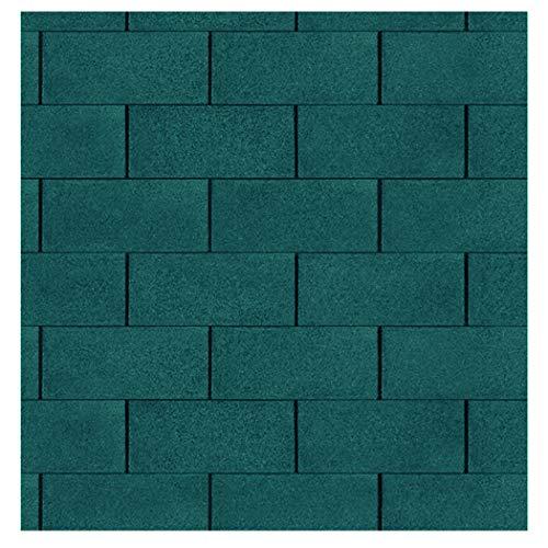 Bitumen Dachschindeln rechteckig grün 3 m² Dacheindeckung von Gartenpirat®