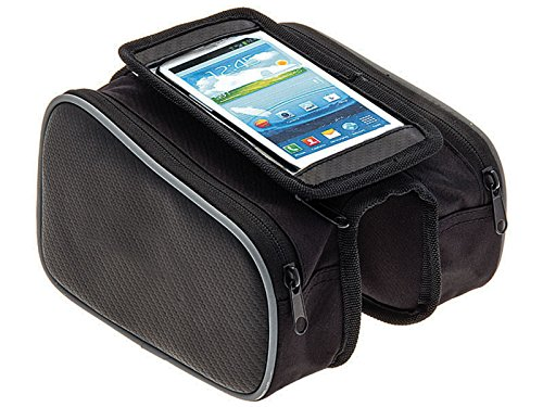 Aforjas Dobles Impermeables y para Smartphone a Cuadro Bicicleta WATERPROOF 3908
