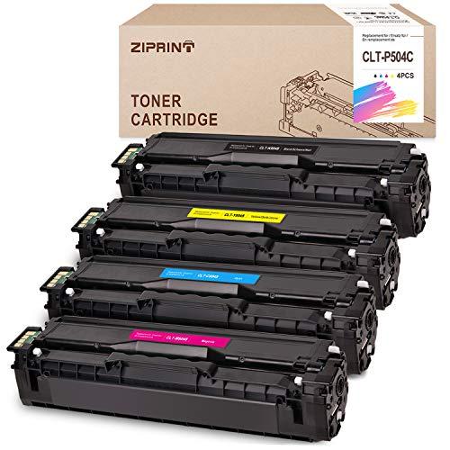 ZIPRINT 4 Toner Kompatibelfür CLT-504C CLT-K504S CLT C504S M504S Y504S für Samsung Xpress C1860FW C1810W Toner für Samsung CLX-4195FN CLX-4195FW CLX-4195N CLX-4170 CLP-415N 415NW CLP-475 Drucker