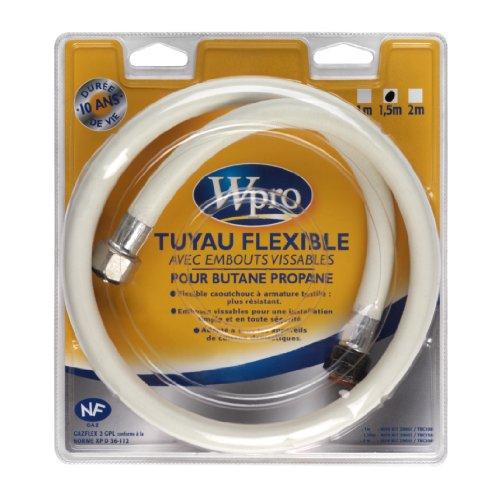 Wpro Flexible TBC158 Gaz Butane/Propane Longueur 1,5m