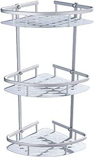 Acero 61.5x25x25 cm MSV Estante DE Angulo Decorado 3 Niveles-Blanco