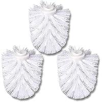 Schramm® 3-Pack WC Cabeza de Cepillo de Repuesto Blanco Cabeza de Cepillo Blanco Individualmente reemplazable con Cepillo de