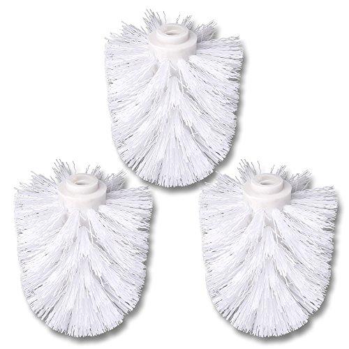 Schramm® 3er Pack WC Ersatzbürstenkopf weiß Ersatzbürsten weißer Bürstenkopf einzeln wechselbar with Toilettenbürste Toilettenbürsten Ersatztoilettenbürste Toiletten bürsten