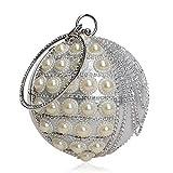 Bolso De Noche Mujeres Diseño Circular Rhinestones Borla Mujer Bolso De Noche Rebordear Diamantes Embrague Redondo Señora Regalo De Boda Monedero-Ym1207 Oro