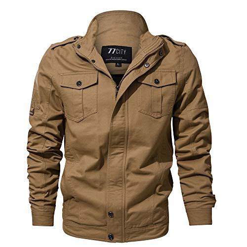 Kanpola Herren Winterjacke Herbst Winter Männer Bomberjacke Pilotenjacke Jacke Übergangsjacke Outwear Freizeit Outdoor Outwear Militär...
