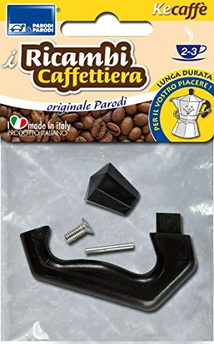 Parodi&Parodi 2-3 Tazze Moka, compatibili bialetti e Altri Marchi 1 Manico di Ricambio per caffettiera, Neutro, Standard