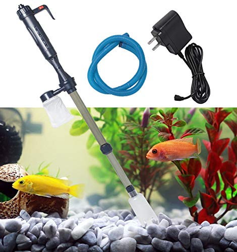 XIANQU Electric Fish Tank Vacuum Cleaner Syphon Automatic Electric Operated Gravel Water Filter Cleaner for Fish or Aquarium Tank Water Changing, Sand Washing, Droppings Cleaning