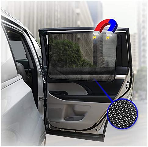 ggomaART Car Side Window Sun Shade Universal Reversible Magnetic Curtain for Baby and Kids with product image