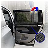 ggomaART Car Side Window Sun Shade - Universal Reversible Magnetic Curtain for Baby and Kids with Sun Protection Block Damage from Direct Bright Sunlight, and Heat - 1 Piece of Black Mesh