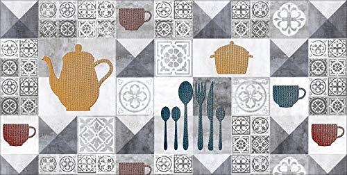 De'Carpet Alfombra Textil Absorbente Lavable EN Lavadora DISEÑO Cocina (40x60cm)