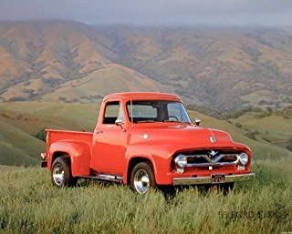 Ford Truck Wall Decor Picture 1955 F-100 Pick Up Art Print Poster (16x20)