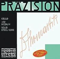 Thomastik Cello String 4/4 Accuracy - 中実スチールコア、クロム紡績、ミディアム