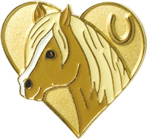 Blue Bug, Lapel Pin Badge-Spilla a forma di cuore, motivo: Cavalli e Pony
