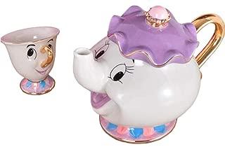 Beauty and The Beast Teapot Mug Mrs Potts Chip Tea Pot Cup Ceramic One Set Lovely Christmas Gift