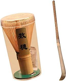 Dolity Bamboo Matcha Green Tea Whisk with Spoon Matcha Powder Tool Teaware Set