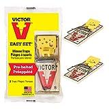 Victor Pack de 2 trampas Easy Set de fácil Ajuste con Pedal Que atrae al ratón-Ratonera de Calidad para atrapar y capturar roedores-Duradero, higiénico y eficaz #M035, yellow