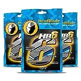 HeadBlade Men's HB6 Refill Shaving Razor Blades (12 Blades) 3 Pack