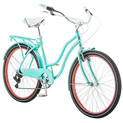 Schwinn Perla Womens Beach Cruiser Bike, 18-Inch Step Through...