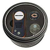 Team Golf NFL Chicago Bears Gift Set Switchfix Divot Tool, Cap Clip, & 2 Double-Sided Enamel Ball Markers, Patented Design, Less Damage to Greens, Switchblade Mechanism