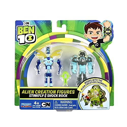Ben 10 Alien Creation Figures - Stinkfly & Shock Rock