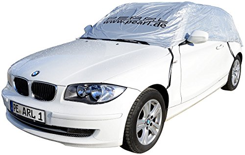 PEARL Autoschutz: Auto-Halbgarage für Fließheck & Minivan, 390 x 138 x 58 cm (Auto Sonnenschutz Garage)