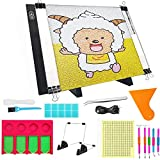 5D Diamonds Painting Tools and Accessories Kits, with Adjustable A4 LED Light Pad and Tray Organizer, Apply to Full Drill & Partial Drill for Adults