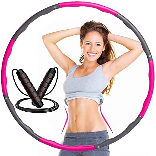 AUCOS Hula Hoop Reifen Erwachsene Fitnessreifen 8 Abnehmbare Teile Breit 95cm Hoola Hoop Reifen Kinder Anfänger, Gewichteter Hoop Einstellbare Größe Hula Reifen Erwachsene Zur Gewichtsabnahme