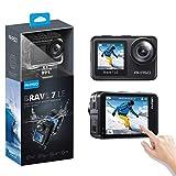 アクションカメラ AKASO Brave 7 LE 水中カメラ 4K 20MP 高画質 IPX7本機防水 デュアルカラースクリーン Wi-Fi EIS2.0手ぶれ補正 SONYセンサー 1350mAhバッテリー2個 40M防水(ケース必要) リモコン付き アクションカム ウェアラブルスポーツカメラ「一年保証」