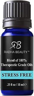 Radha Beauty Stress Free Blend 10ml Bergamot, Patchouli, Orange, Ylang Ylang and Grapefruit. Promotes Clarity, Focus and M...