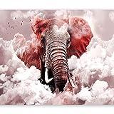 murando Papier peint intissé éléphant 300x210 cm Décoration Murale XXL Poster Tableaux Muraux Tapisserie Photo Trompe l'oeil Ornament Ciel g-C-0087-a-d