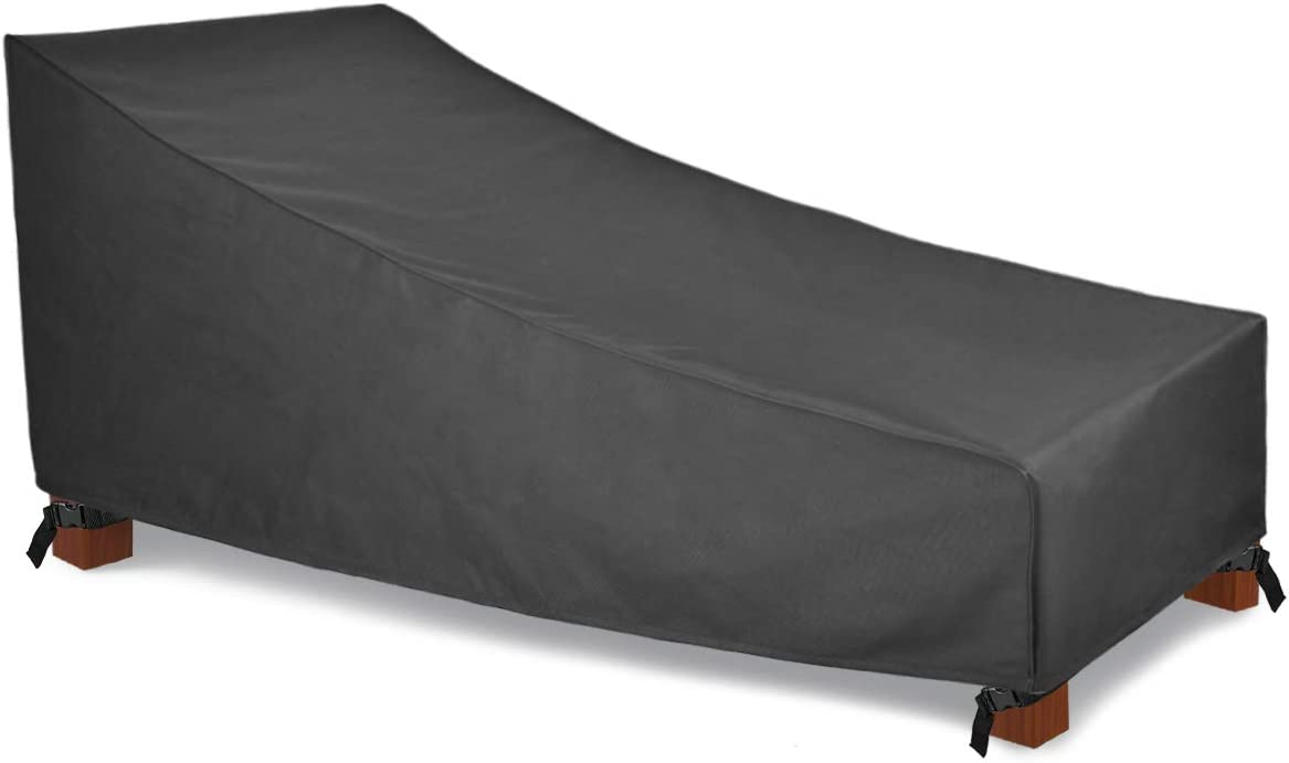 Patio Watcher Waterproof Patio Chaise Lounge Covers, Heavy Duty Outdoor Chaise Lounge Covers with Durable and Water Resistant Fabric, 78 Inches Long, Grey : Patio, Lawn & Garden