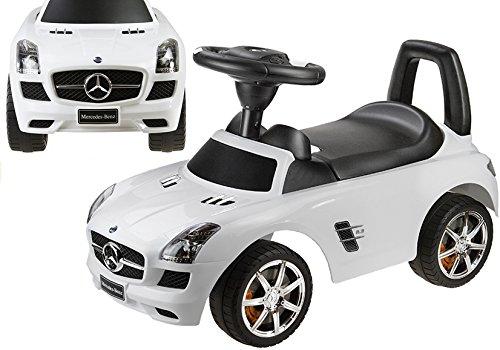 Lean Toys Voiture à roulettes pour bébé et enfant Type Mercedes Benz Blanc Produit sous licence
