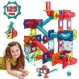 LUKAT Magnetische Bausteine, 125Pcs STEM Spielzeug für Kinder 3 4 5 6 7 8 Jahre 3D Lernspielzeug Bausteine Set Konstruktion Blöcke Geschenk für 3-12 Jungen und Mädchen