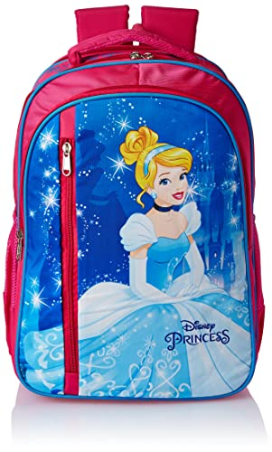 Priority Disney Princess Cinderella 27 litres Pink Polyester Kid's School Bag | Casual Backpack for Girl's (Alexa 0011-25232)