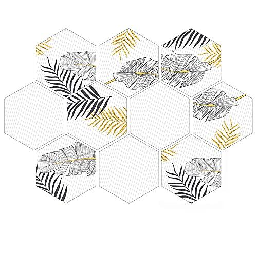 azulejos adhesivos cocina,10 piezas de pegatinas de pared de baño y cocina, pegatinas de piso de seis caras antideslizantes pegatinas de azulejos decorativos -016