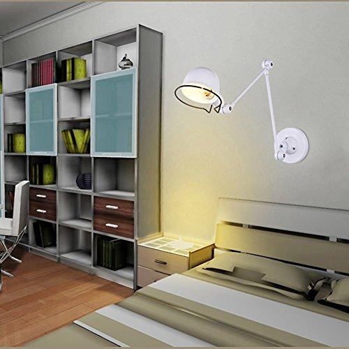 5151BuyWorld wandlamp, ijzer, vintage, zwart/wit, retro-lampen, industrieel restaurant, etui, loft-verlichting, houder E14