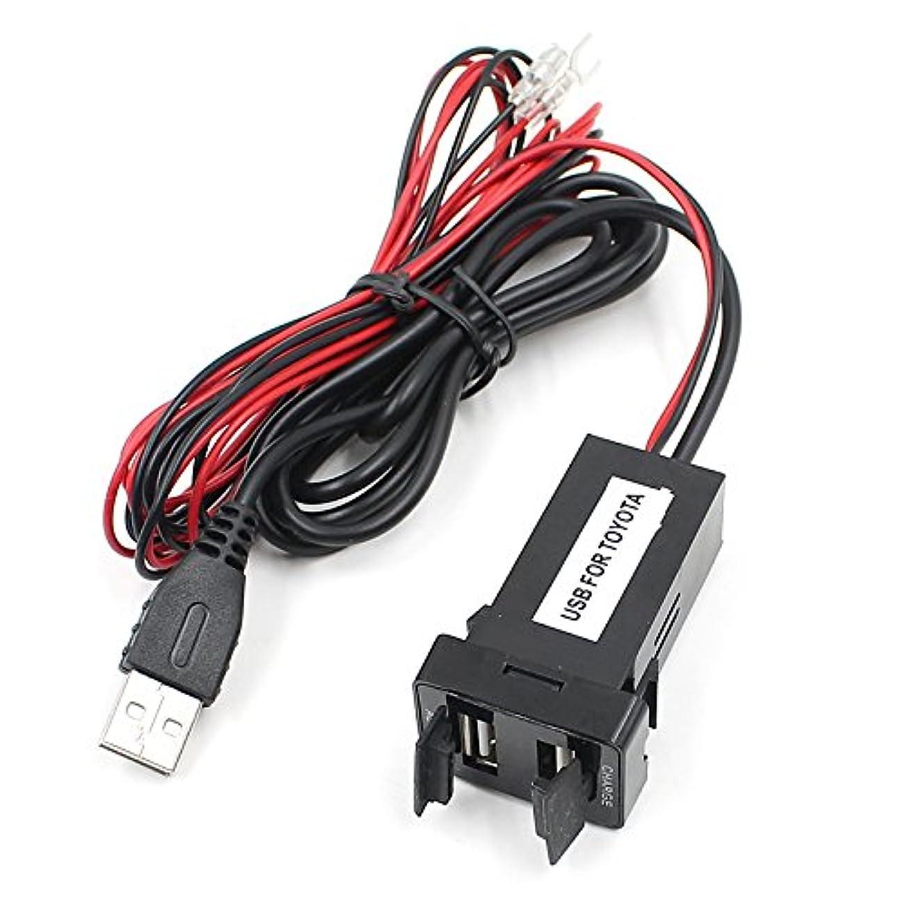 ティッシュしたがって機転CUHAWUDBA デュアル USB 充電器/オーディオポートインターフェイス トヨタ/サイオンカーブランクスイッチホール用