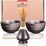 Goodwei Juego de té Matcha para Dos - Bol de té, batidor y Soporte Incl. Caja de Regalo … (Goma)